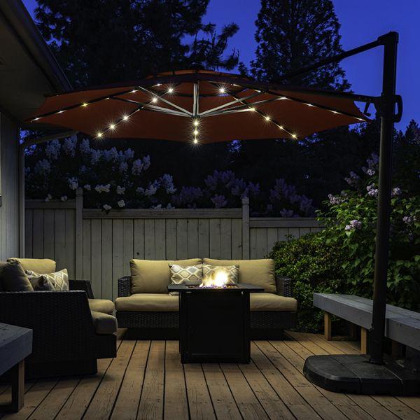 Lampki Solarne Pod Parasol Ogrodowy Polux Oficjalna